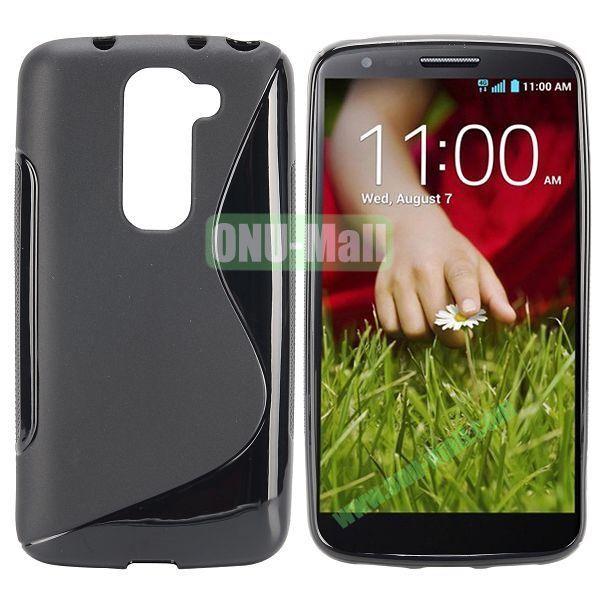 S Shape TPU Case for LG G2 Mini D610 D618 D620 D620R (Black)
