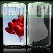 S Shape Design TPU Case for LG Optimus G Pro 2  F350  D837 (Transparent)