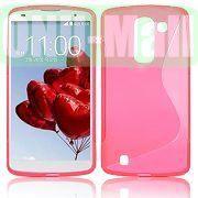 S Shape Design TPU Case for LG Optimus G Pro 2  F350  D837 (Pink)
