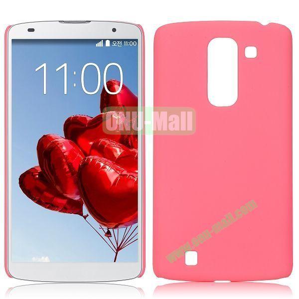 Solid Color Oil Hard Back Case for LG Optimus G Pro 2  F350  D837 (Pink)