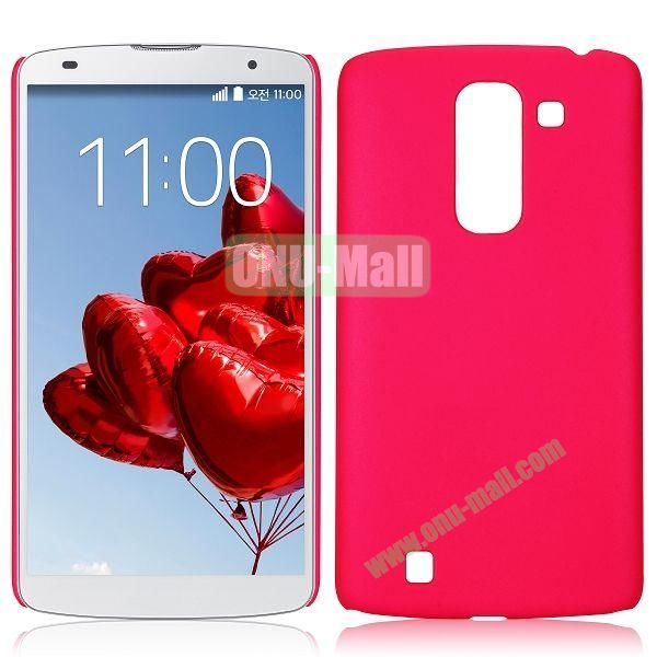 Solid Color Oil Hard Back Case for LG Optimus G Pro 2  F350  D837 (Rose)
