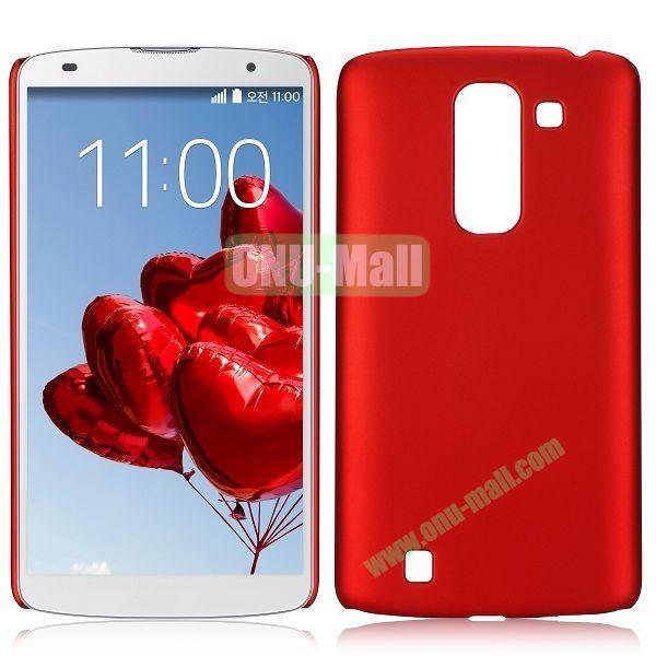 Solid Color Oil Hard Back Case for LG Optimus G Pro 2  F350  D837 (Red)