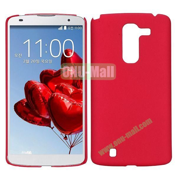Frosted quicksand plastic Hard Case For LG Optimus G Pro 2 F350 D837 (Red)