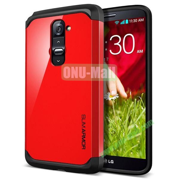 New Arrival Hard Protective Phone Case for LG G2 (Red)