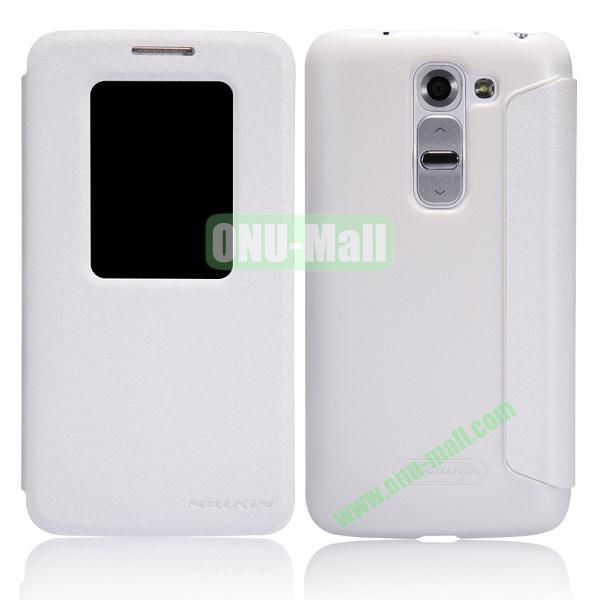 Nillkin Sparkle Series S View Flip Leather Case for LG G2 Mini D620 D618 (White)