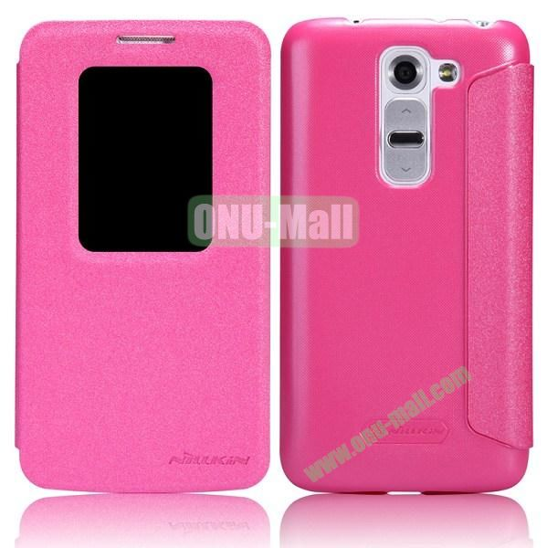 Nillkin Sparkle Series S View Flip Leather Case for LG G2 Mini D620 D618 (Pink)