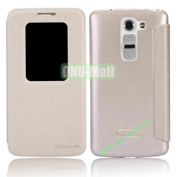 Nillkin Sparkle Series S View Flip Leather Case for LG G2 Mini D620 D618 (Gold)