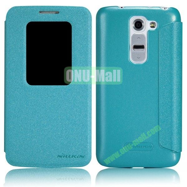 Nillkin Sparkle Series S View Flip Leather Case for LG G2 Mini D620 D618 (Blue)
