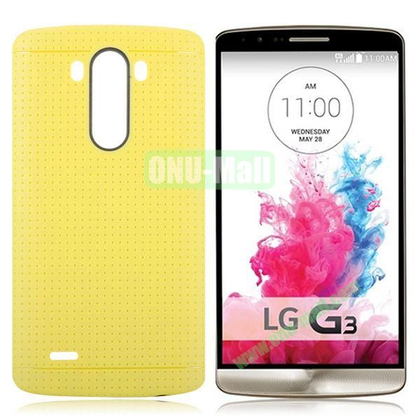 Solid Color Mesh Pattern Design TPU Case for LG G3 D850 LS990 (Yellow)