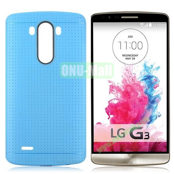 Solid Color Mesh Pattern Design TPU Case for LG G3 D850 LS990 (Blue)