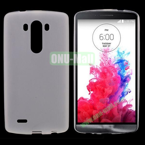 Simply Frosted Feel TPU Case for LG G3 D850 LS990 (White)