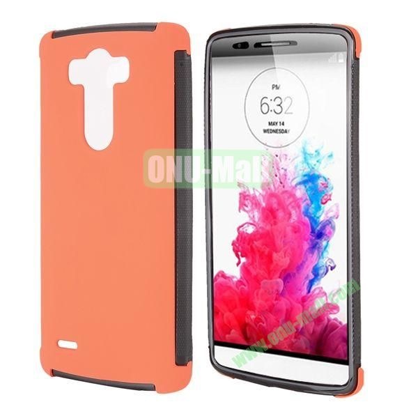 2 in 1 Detachable Front Transparent Window Design TPU + TPU Hybrid Full Case for LG G3 D850 LS990 (Orange)