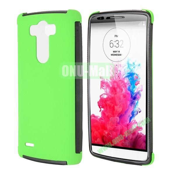 2 in 1 Detachable Front Transparent Window Design TPU + TPU Hybrid Full Case for LG G3 D850 LS990 (Green)