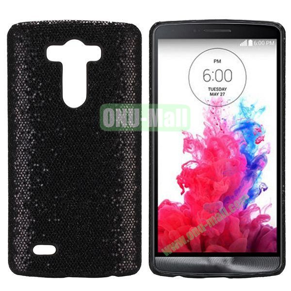Glitter Powder Leather Coated Hard Case for LG G3 D850 LS990 (Black)