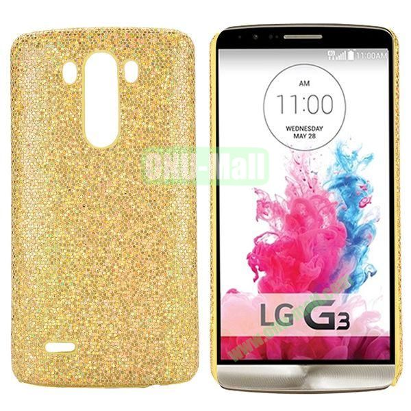 Glitter Powder Coated PC Hard Case for LG G3 D850 LS990 (Gold)