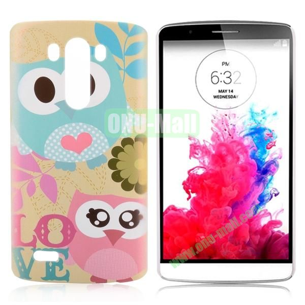 Special Pattern Hard PC Case for LG G3 D850 LS990 (Lovely Owls)