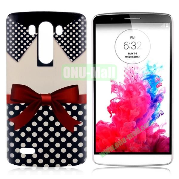 Special Pattern Hard PC Case for LG G3 D850 LS990 (Red Bowknot)