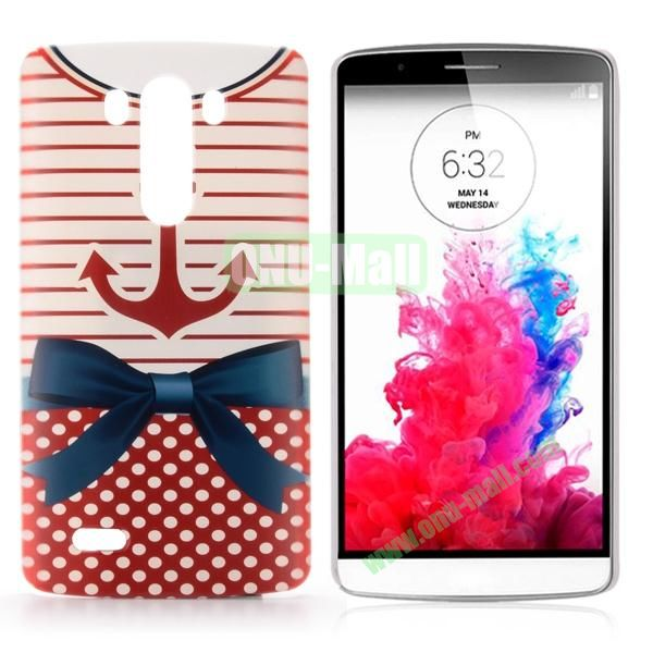 Special Pattern Hard PC Case for LG G3 D850 LS990 (Dark Blue Bowknot)