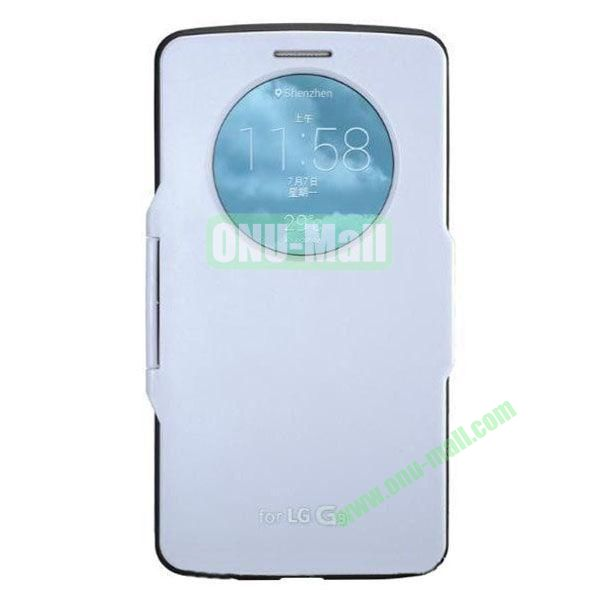 Imitation Official 3 in 1 PC + Leather Cover Case for LG G3 D850 (White)