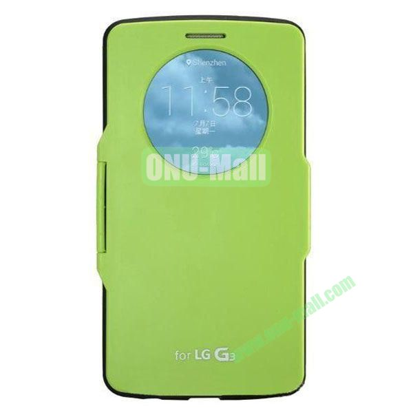 Imitation Official 3 in 1 PC + Leather Cover Case for LG G3 D850 (Green)