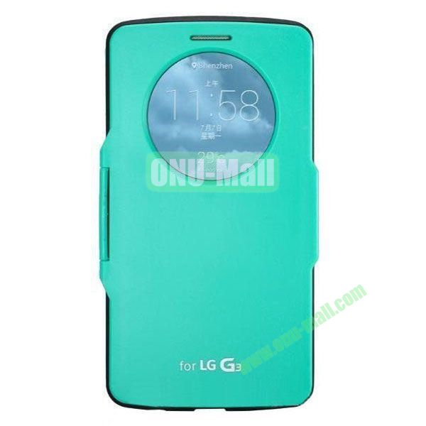 Imitation Official 3 in 1 PC + Leather Cover Case for LG G3 D850 (Dark Green)
