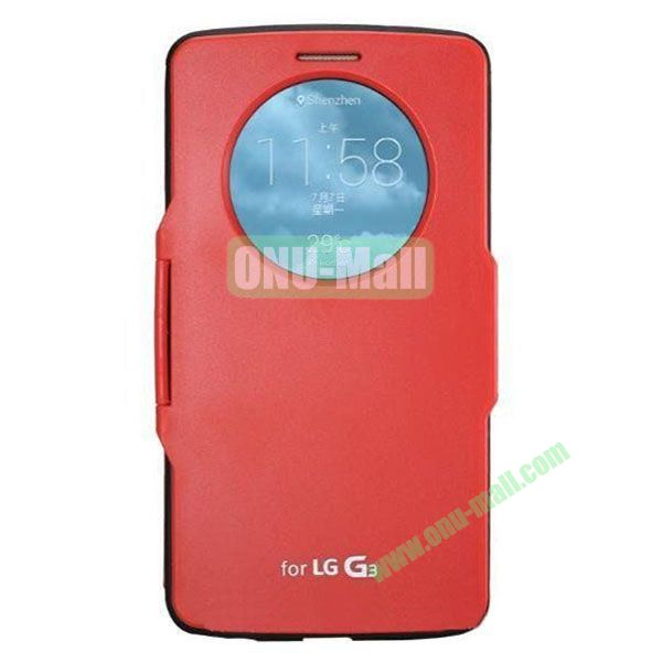Imitation Official 3 in 1 PC + Leather Cover Case for LG G3 D850 (Red)