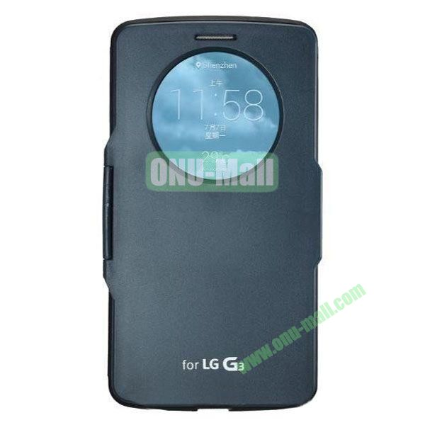 Imitation Official 3 in 1 PC + Leather Cover Case for LG G3 D850 (Dark Blue)