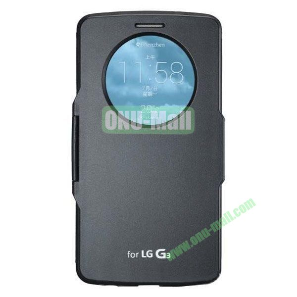 Imitation Official 3 in 1 PC + Leather Cover Case for LG G3 D850 (Black)