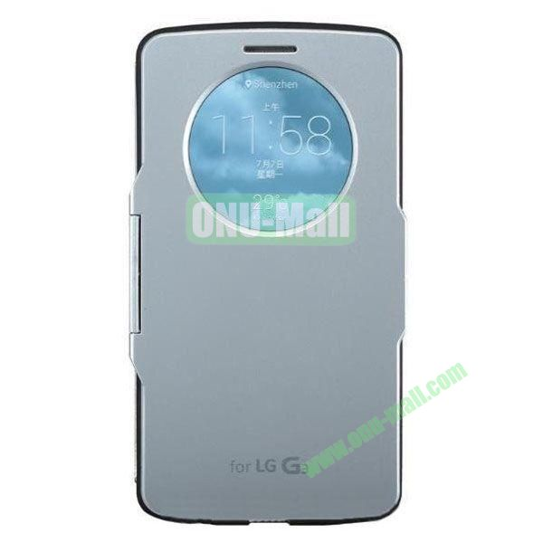 Imitation Official 3 in 1 PC + Leather Cover Case for LG G3 D850 (Silver)