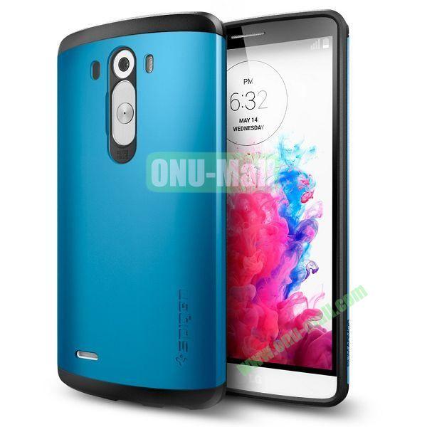 Slim Armor TPU + PC Hybrid Shell Case for LG G3 D850 (Blue)