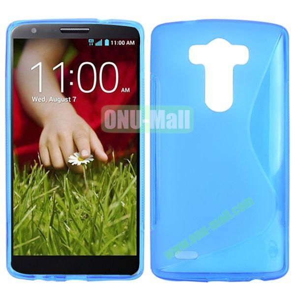 S Shape TPU Case for LG G3  D850  VS985  D830  D851 (Blue)