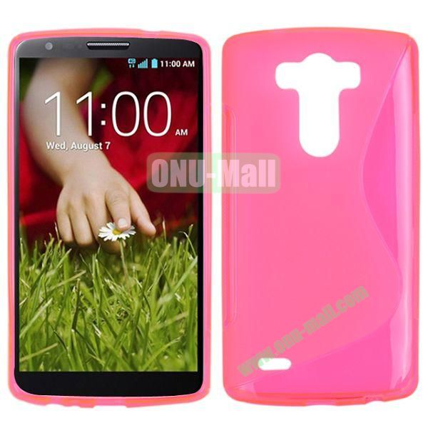 S Shape TPU Case for LG G3  D850  VS985  D830  D851 (Pink)
