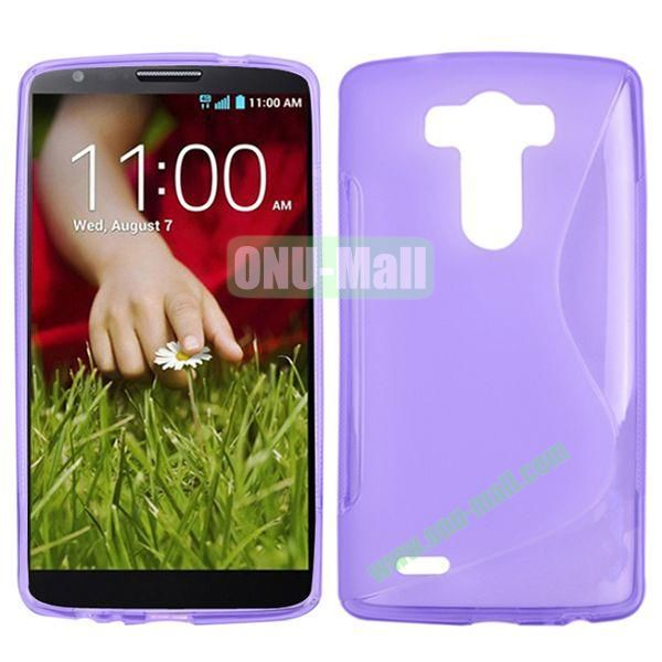 S Shape TPU Case for LG G3  D850  VS985  D830  D851 (Purple)