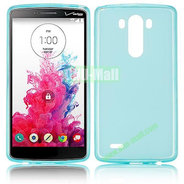 Hot Sale Transparent TPU Case for LG G3  D850  LS990 (Light Blue)