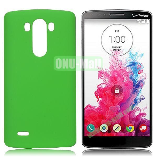 Solid Color Coated Matte Hard Case for LG G3  D850 (Green)