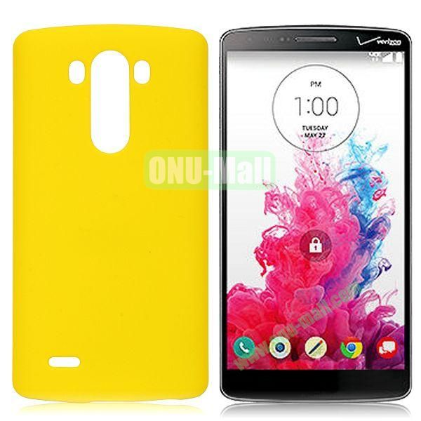 Solid Color Coated Matte Hard Case for LG G3  D850 (Yellow)