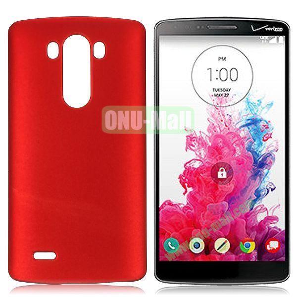 Solid Color Coated Matte Hard Case for LG G3  D850 (Red)