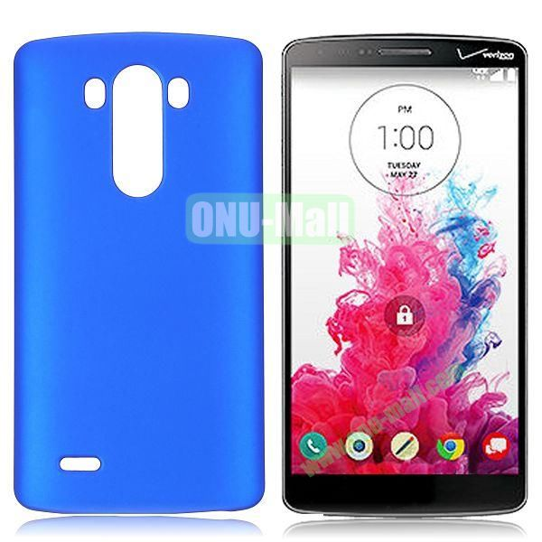 Solid Color Coated Matte Hard Case for LG G3  D850 (Dark Blue)