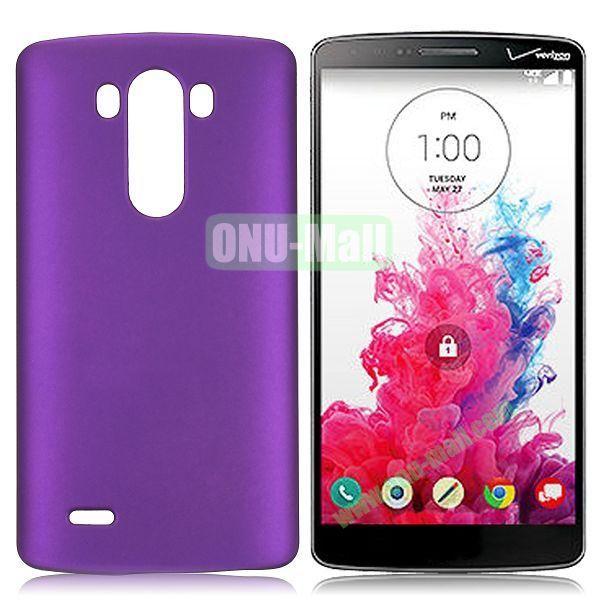 Solid Color Coated Matte Hard Case for LG G3  D850 (Purple)