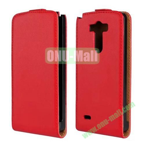 Hot Sale Vertical Flip Genuine Leather Case for LG G3 D850 LS990 (Red)