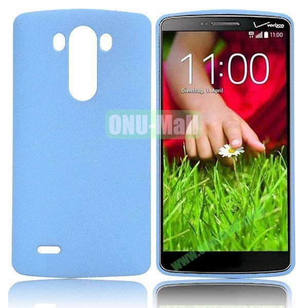 Hot Sale Quicksand Pattern Hard PC Case for LG G3 D850 (Light Blue)