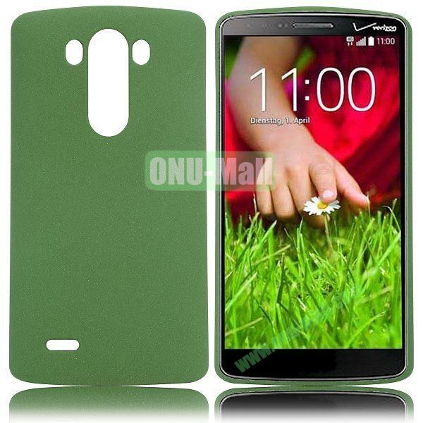 Hot Sale Quicksand Pattern Hard PC Case for LG G3 D850 (Dark Green)