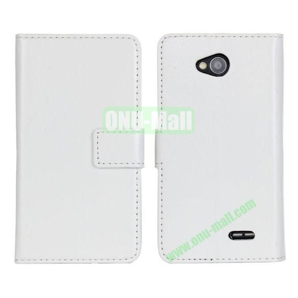 Crazy Horse Texture Wallet Style Flip Magnetic Leather Case for LG L70 (White)