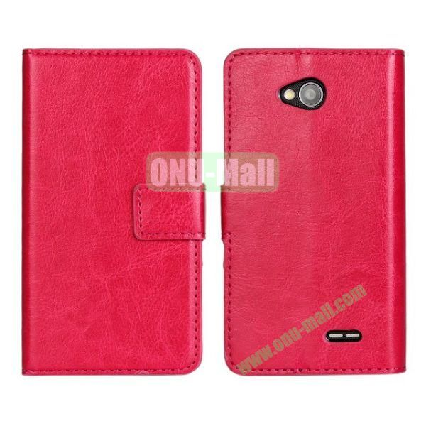 Crazy Horse Texture Wallet Style Flip Magnetic Leather Case for LG L70 (Rose)