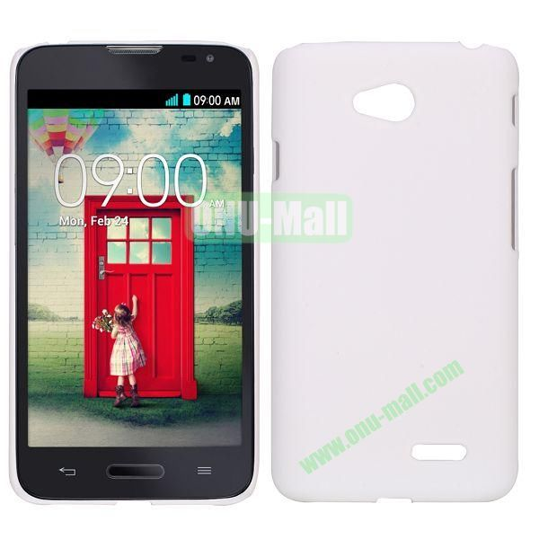 Smooth PC Hard Back Cover Case for LG Optimus L70 (White)