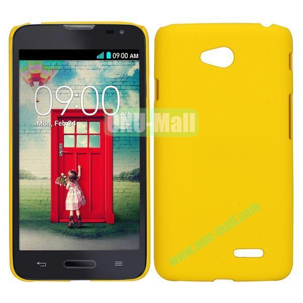Smooth PC Hard Back Cover Case for LG Optimus L70 (Yellow)