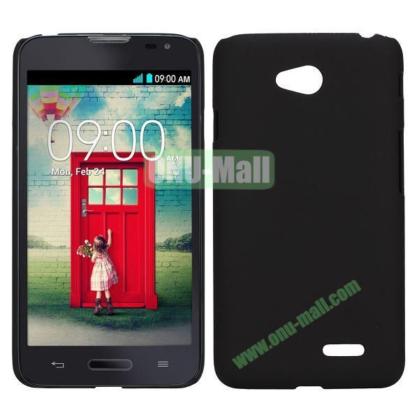 Smooth PC Hard Back Cover Case for LG Optimus L70 (Black)