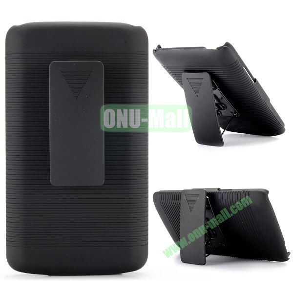 2 in 1 Belt Clip Detachable Holster Combo PC Hard Case for LG L80 Dual SIM D370 with Kickstand