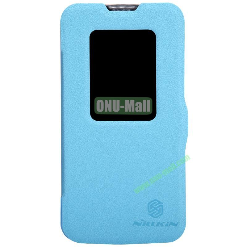 Nillkin Fresh Series S View Flip Leather Case for LG L90 (Blue)