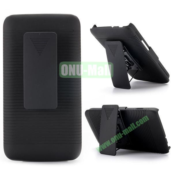 2 in 1 Belt Clip Detachable Holster Combo PC Hard Case for LG L90 with Kickstand